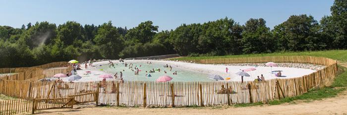 Le lagon du meilleur camping de Vendée