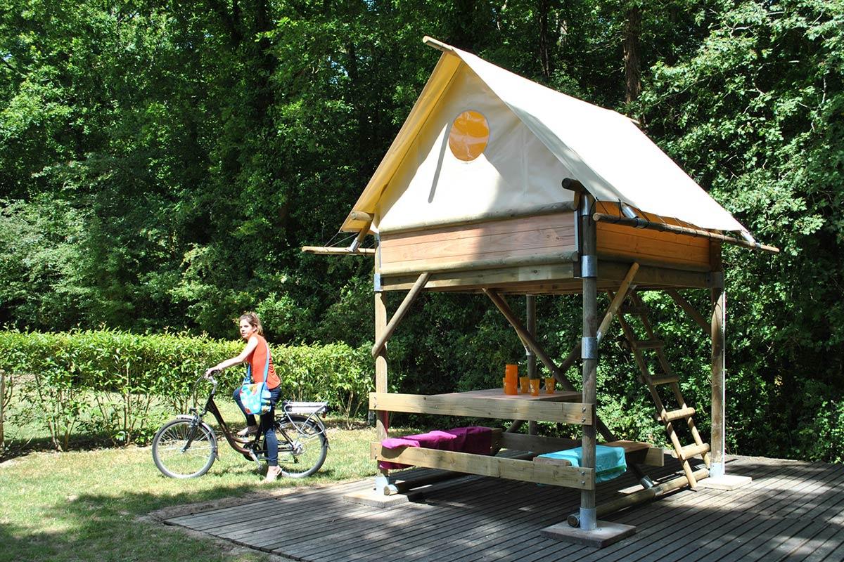 bivouac camping Castel 5 étoiles en Vendée