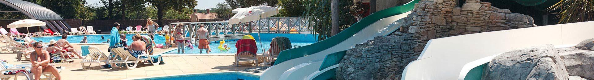 espace aquatique camping Castel 5 étoiles en Vendée