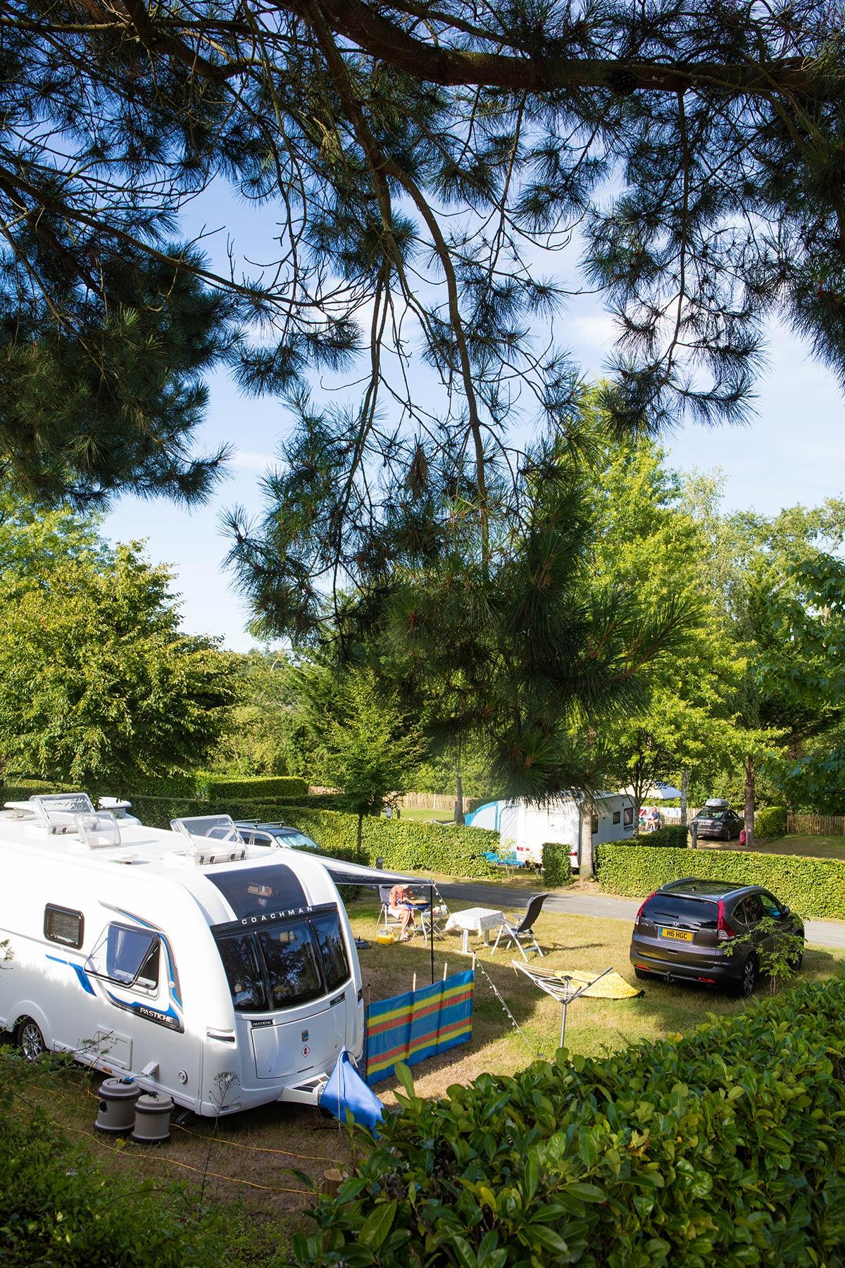 vue emplacement caravane camping vendée