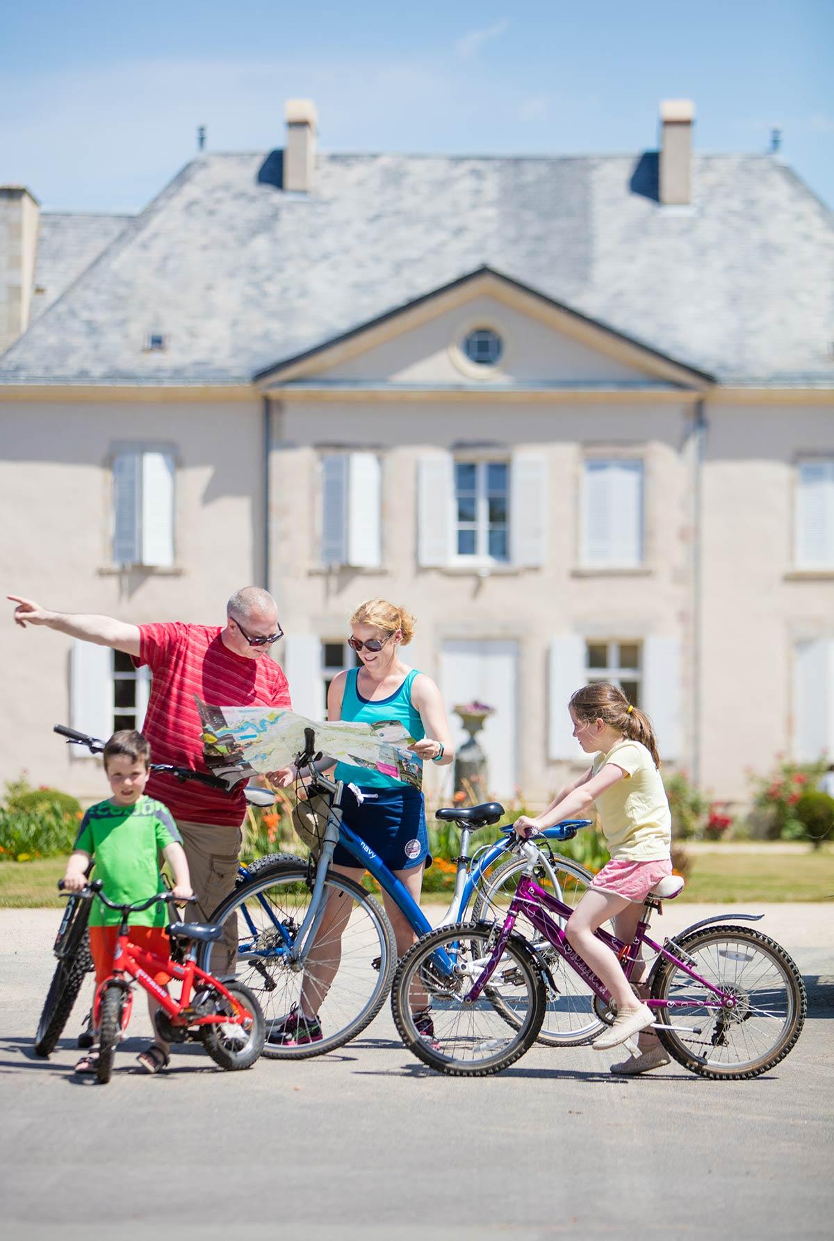 promenade vélo camping Castel 5 étoiles en Vendée