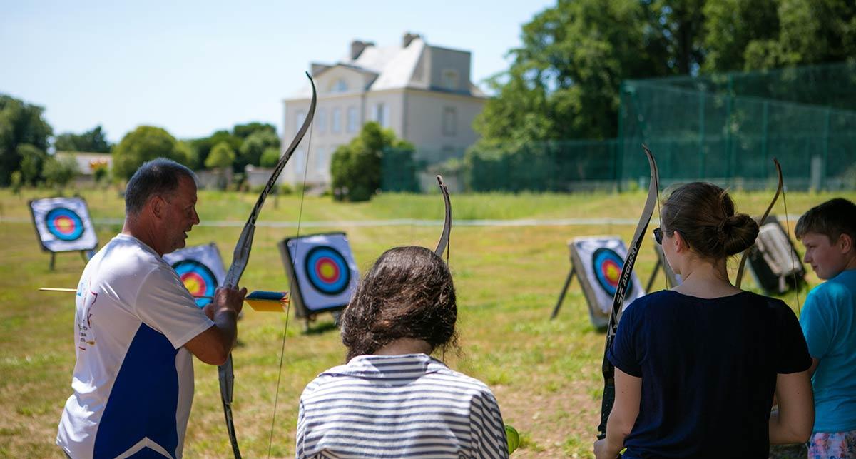 tir à l'arc camping Castel 5 étoiles en Vendée