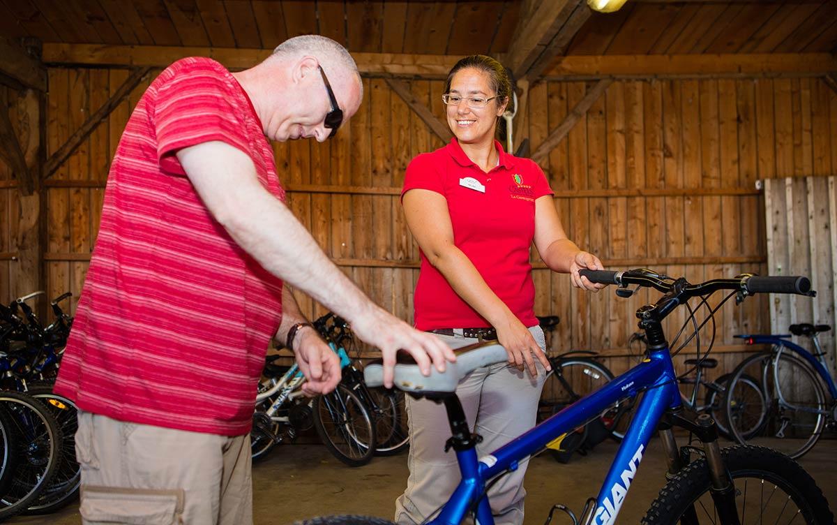la location de vélo camping Castel 5 étoiles en Vendée