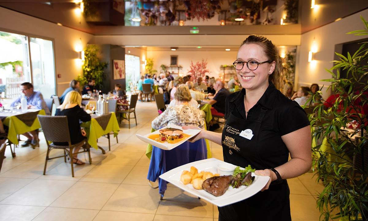 le restaurant du camping Castel 5 étoiles en Vendée