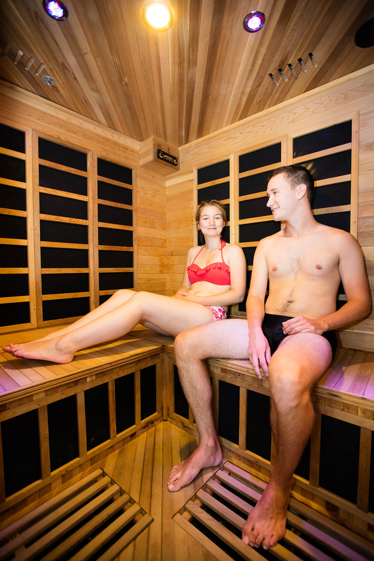 sauna camping Castel 5 étoiles en Vendée
