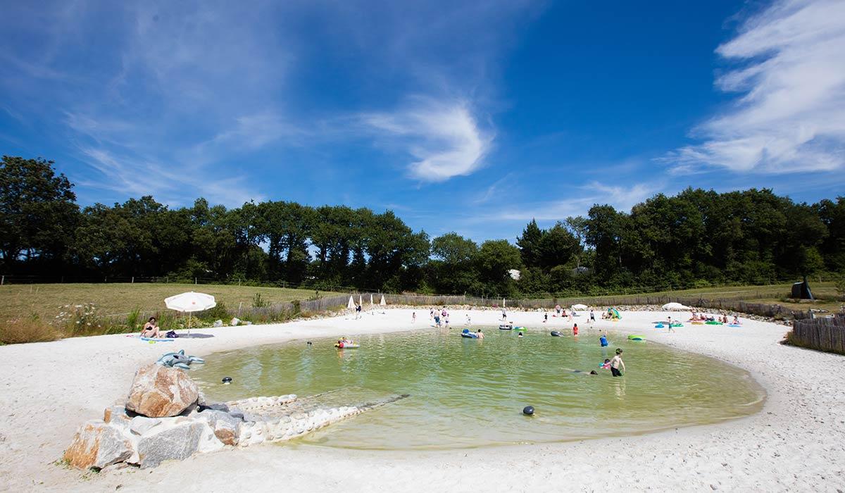 vue lagon camping vendée