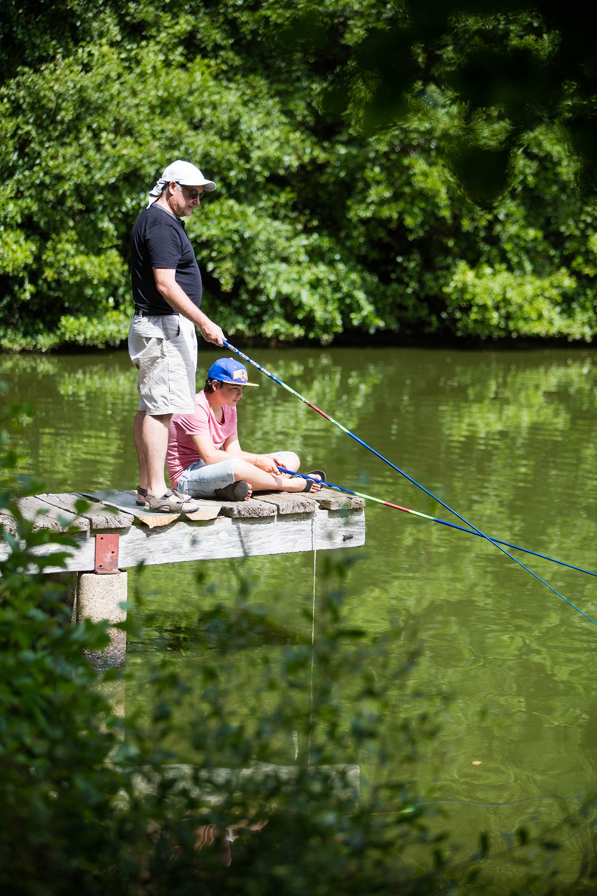 pêche étang camping Castel 5 étoiles en Vendée