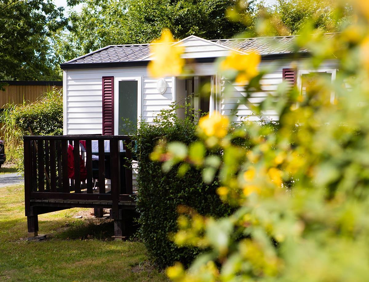 gros plan mobilhome camping Castel 5 étoiles en Vendée