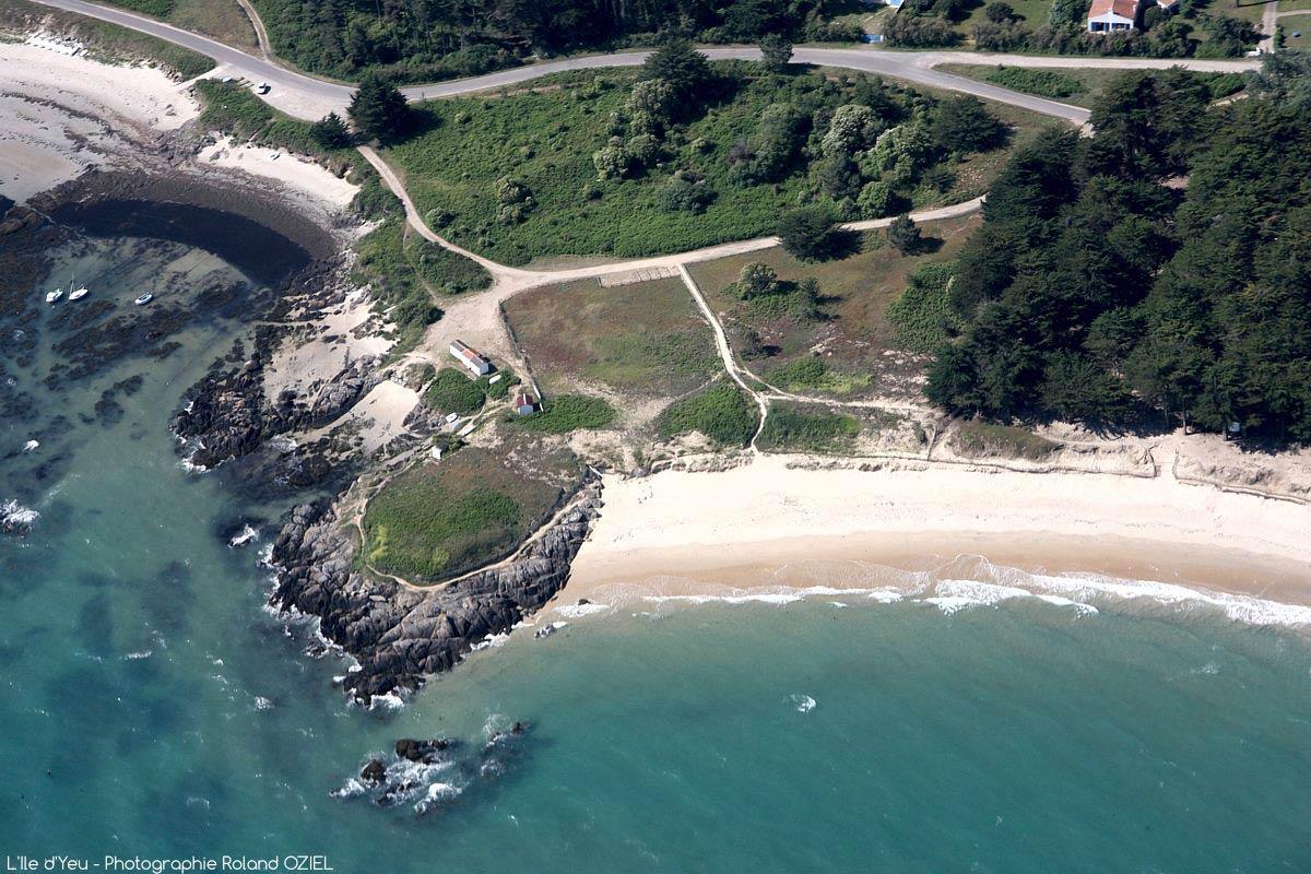 vue aérienne l'ile d'yeu