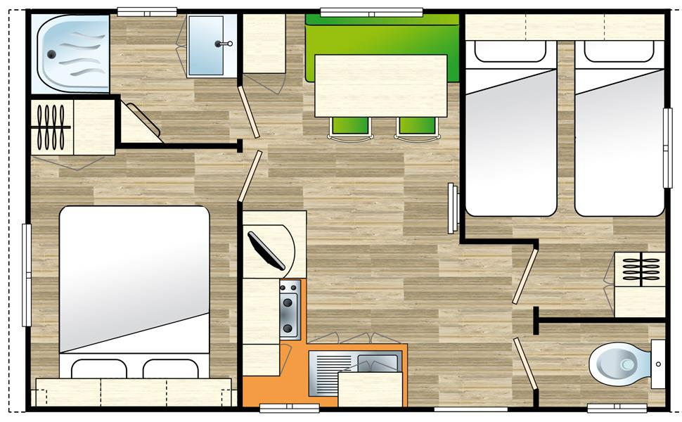 Mobil-home Compact plan