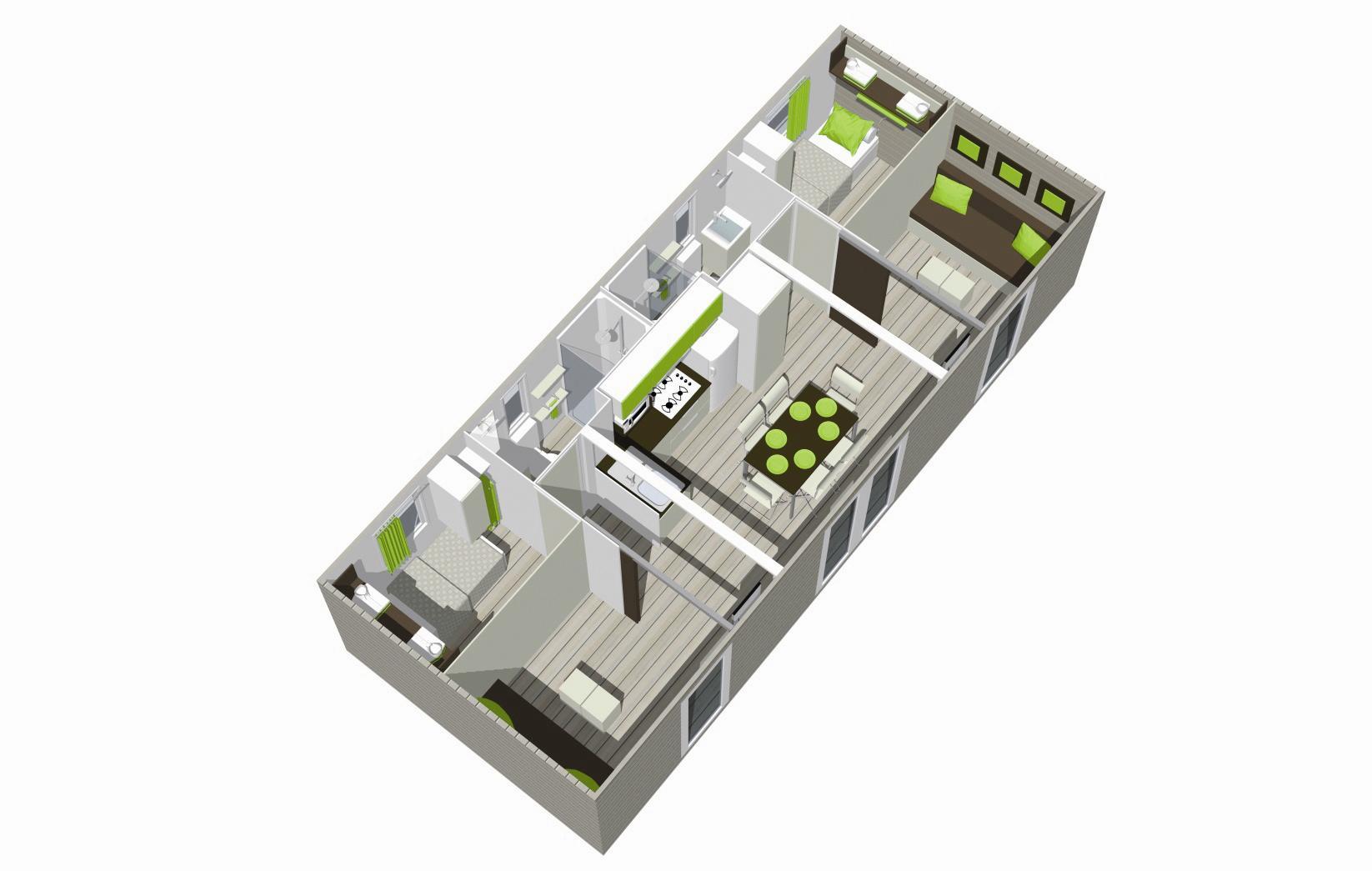 plan Mobil-home Quadro