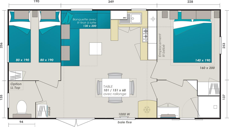 Mobil-home  Titania plan