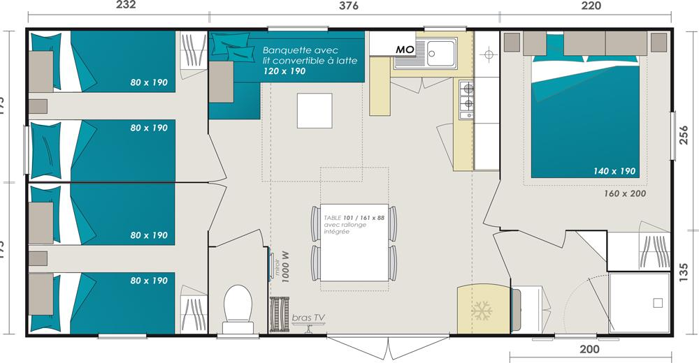 plan Mobil-home Cordelia