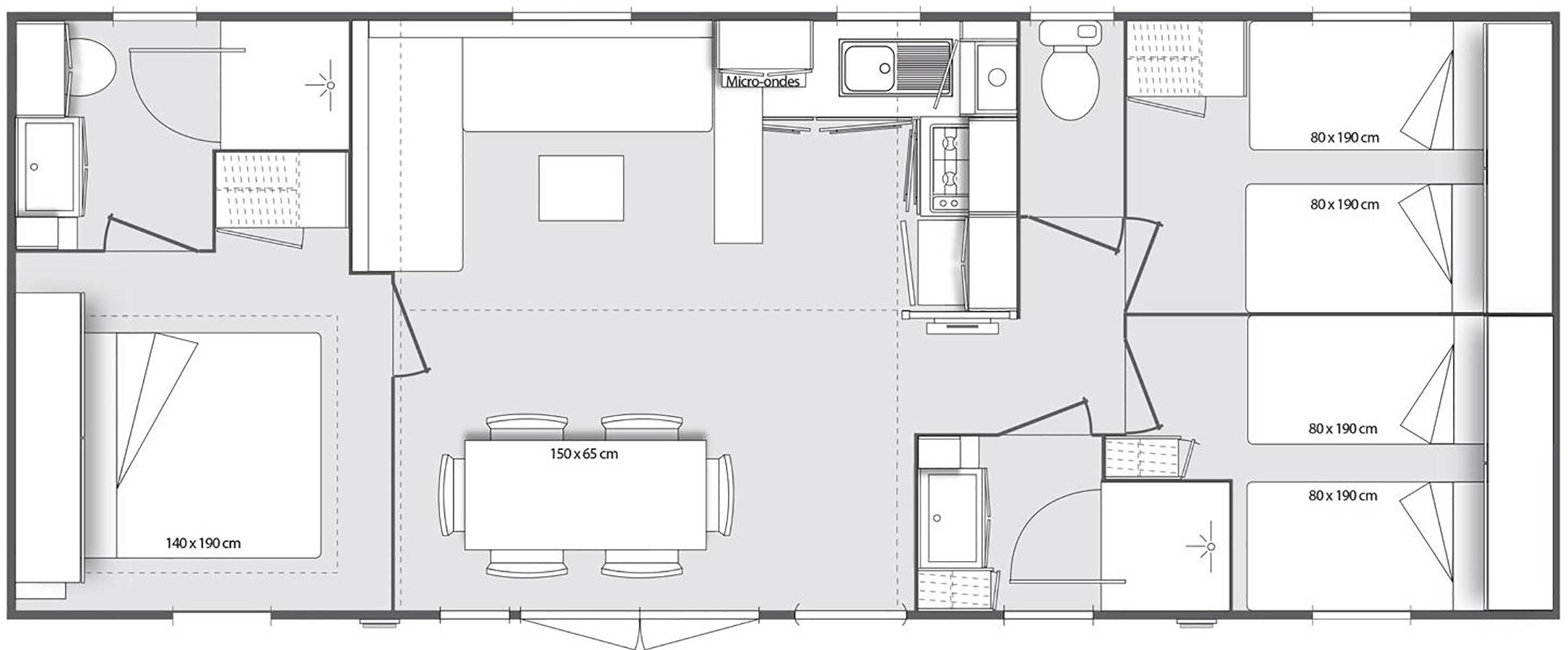 plan Mobil-home Pergola