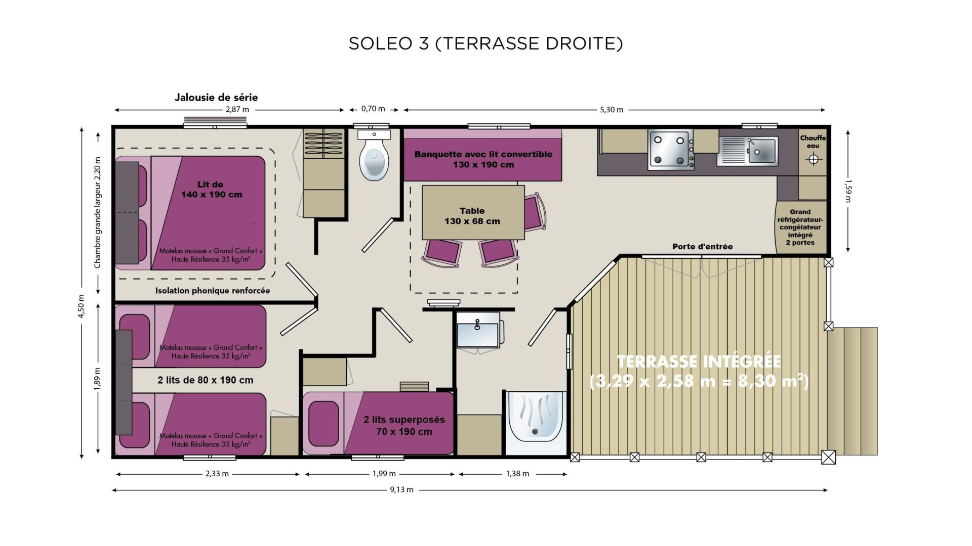 plan Mobil-home  Soleo