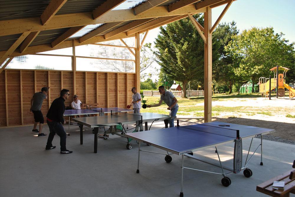 ping-pong camping Castel 5 étoiles en Vendée