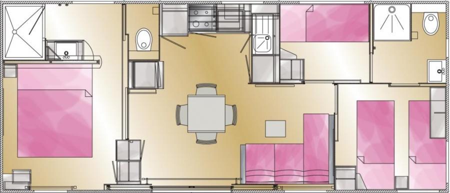 plan Mobil-home Taos 3ch