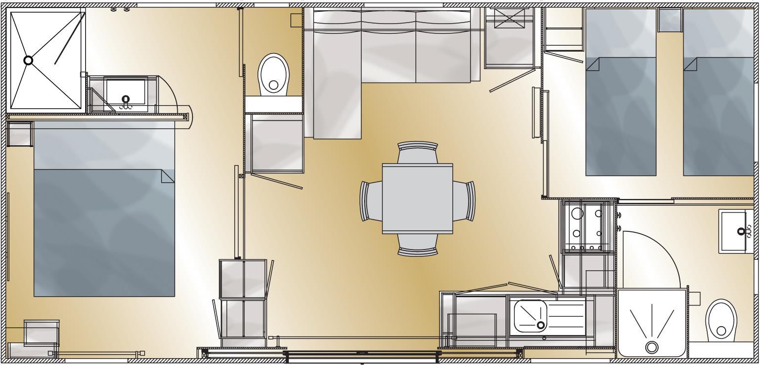 plan Mobil-home Taos 2ch