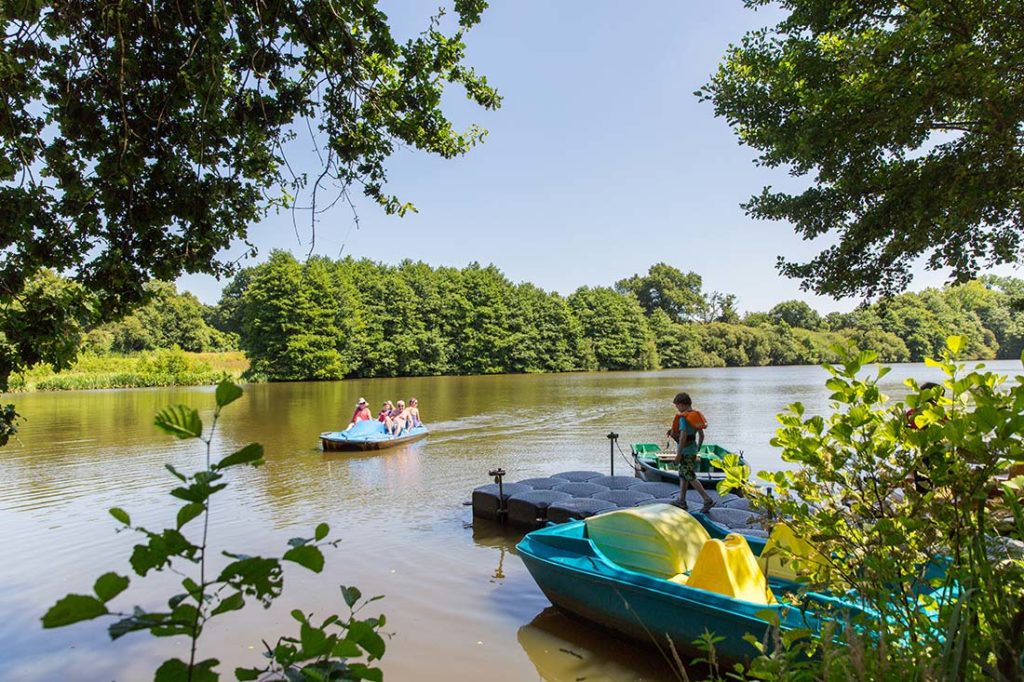 Pêche et balade en bateaux sur l'étang